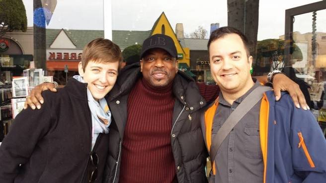 Handsome and I met Levar Burton this Christmas. No big deal.